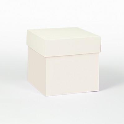 Scatolina fondo e coperchio crema 8x8x8