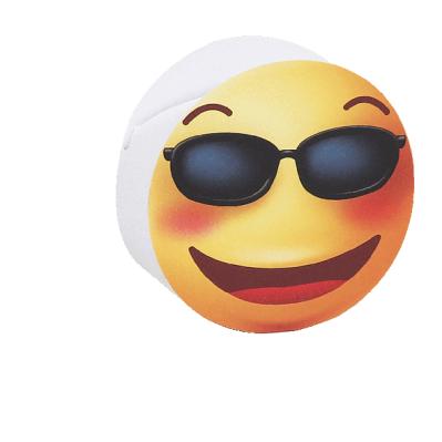 Scatolina portaconfetti cilindrica emoji con occhiali