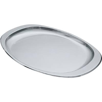 Vassoio ovale cm.35x25 in acciaio Alessi