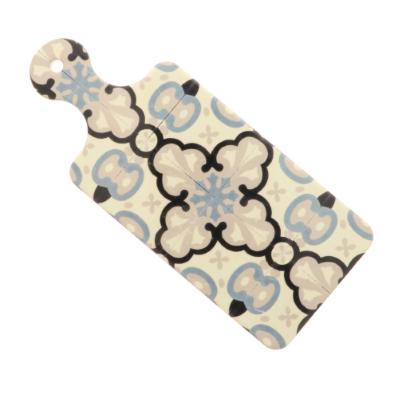 Vassoio e sottopentola rettangolare in porcellana e sughero con manico