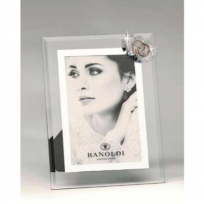Cornice portafoto applicazione cuore nozze d'oro - RANOLDI