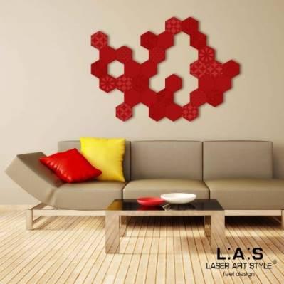 Quadro moderno con esagoni tema geometrico - Laser Art Style