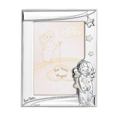 Cornice portafoto con angioletti e stelline - 9x13 cm