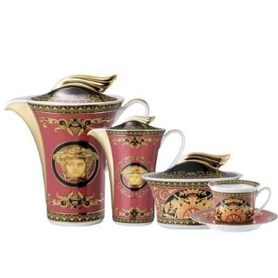 Servizio da tè MEDUSA ROSSA 21 pz Rosenthal Versace