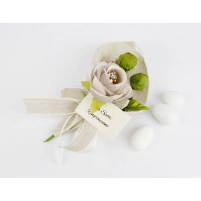 Segnaposto Calla con fiore e bigliettino - Matrimonio