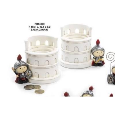 Salvadanaio con Colosseo e Centurione Antica Roma - Mandorle