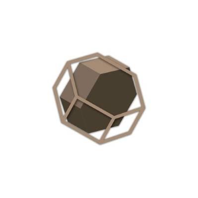 Pannello moderno in legno con esagono effetto 3D tema geometrico - Laser Art Styl