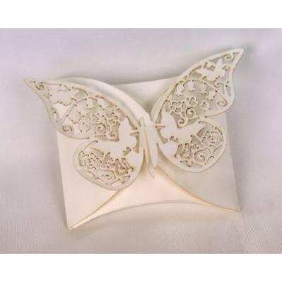 Scatolina portaconfetti con farfalla