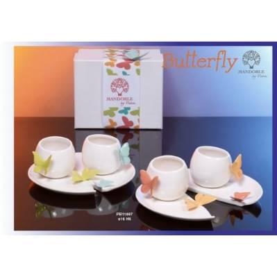 Set 2 tazze in porcellana - Mandorle