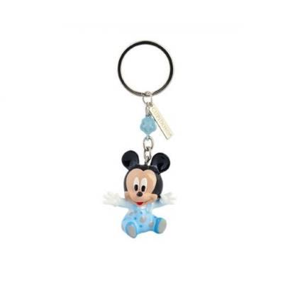 Bomboniera Disney in resina topolino azzurro portachiavi 3D
