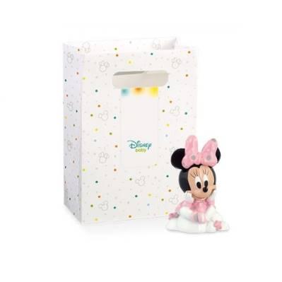 Bomboniera Disney in resina Minnie rosa su nuvola con scatola