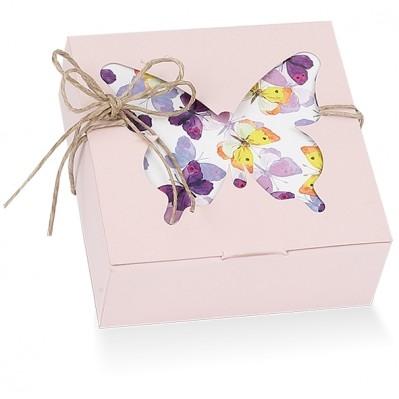 Scatola pieghevole farfalle nude