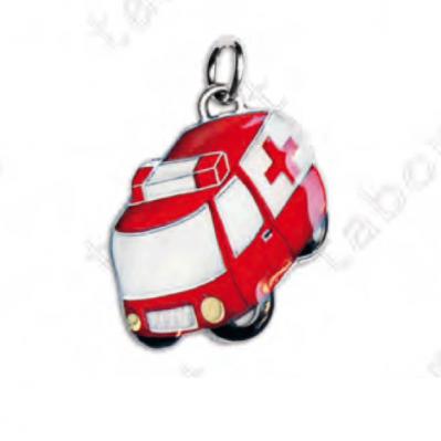 Ciondolo ambulanza - Bomboniera laurea