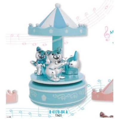 Giostra Carillon bimbo con gattini