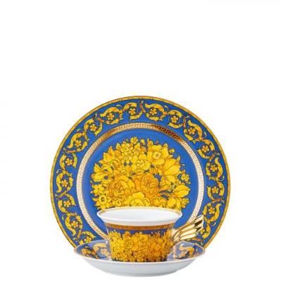 Piatto + Tazza Tè FLORALIA BLUE Rosenthal Versace 25 ANNI