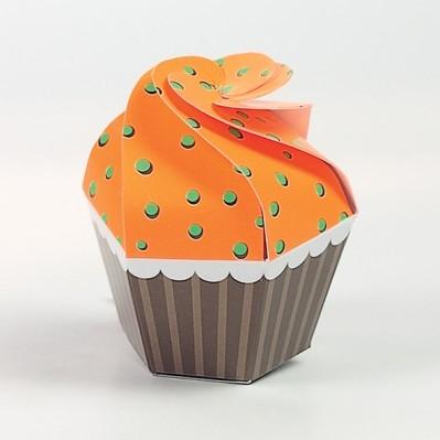 Cupcake fluo arancio/verde