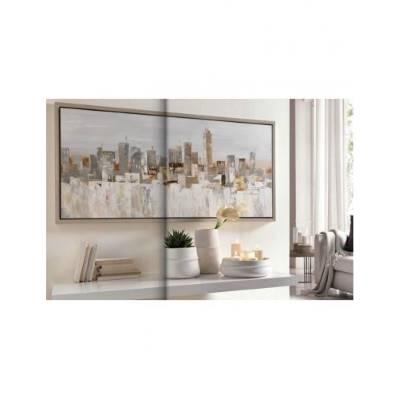 Quadro in tela con cornice in legno 70x150 - L'Oca Nera