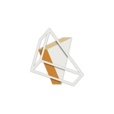 Pannello moderno con triangoli effetto 3D - linee geometriche - Laser Art Styl