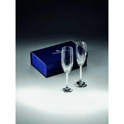 Coppia flute bicchiere in cristallo - RANOLDI