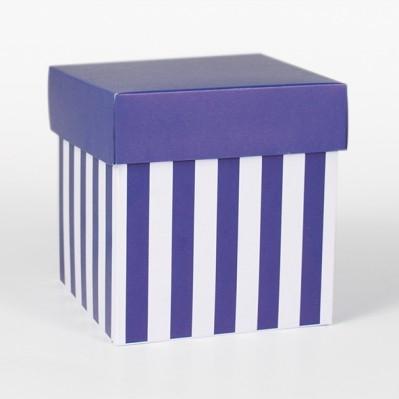 Scatolina fondo e coperchio blu e crema 12x12