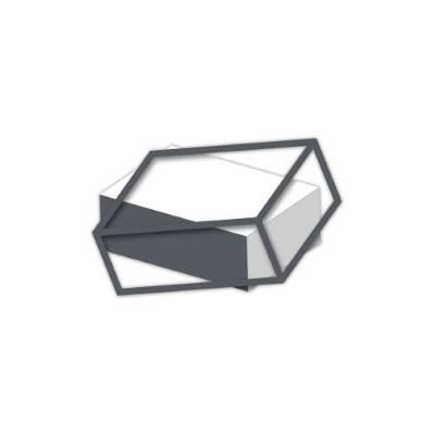 Pannello in mdf con rettangolo effetto 3D tema geometrico - Laser Art Styl