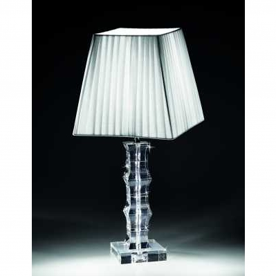 Lampada in cristallo base quadrata - RANOLDI
