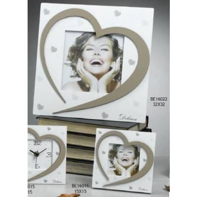 Portafoto con cuore Vanilla
