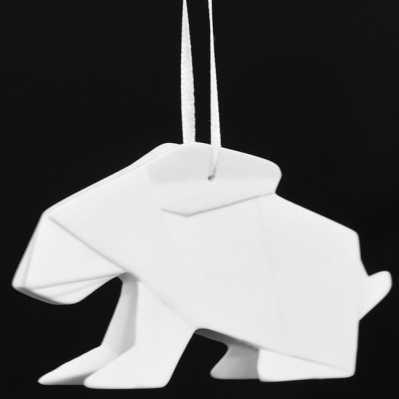 Origami coniglio - porcellana