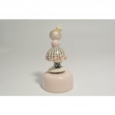 Carillon Ballerina rosa in ceramica Collezione 2020