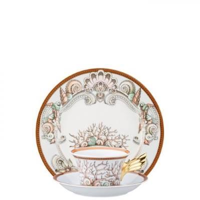 Piatto + Tazza Tè LES ETOILE DE LA MER Rosenthal Versace 25 ANNI