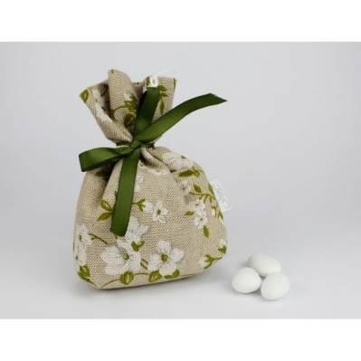 Sacchetto portaconfetti verde linea VENEZIA - x nozze / prima comunione