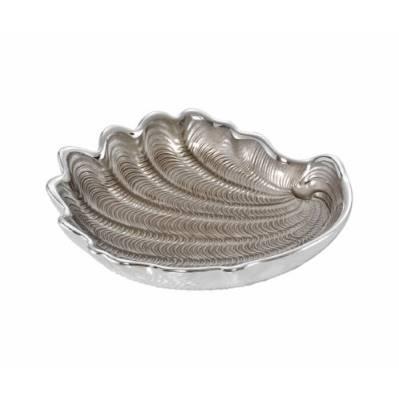 Piattino CONCHIGLIA in argento e vetro nozze - Argenesi