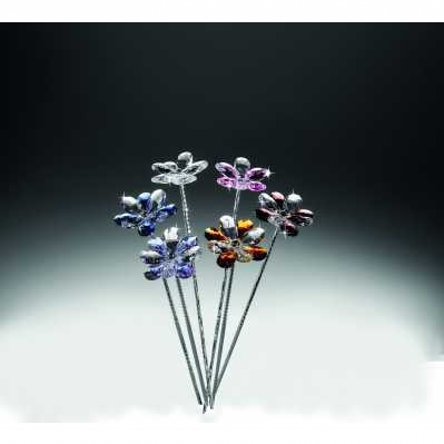 Fiori margherita stelo confezione 1 pezzo in cristallo - RANOLDI
