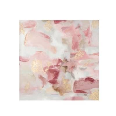 Quadro Acrilico su tela 80x80 rosa - L'Oca Nera