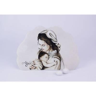 Immagine Madonna e bambin Gesù bomboniere