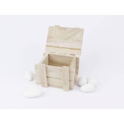 Cassa baule legno colorato porta confetti per 1° Comunione / Matrimonio- Linea 2 Elle