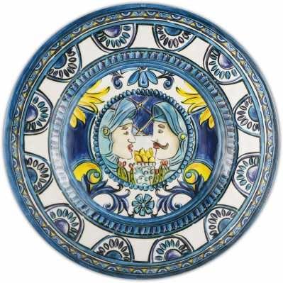 Piatto dessert da collezione sicilia blu Baroque&Rock - Baci Milano