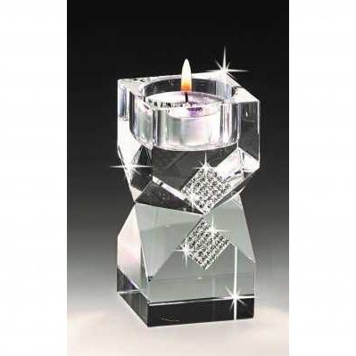 Candeliere per candela piccola in cristallo - RANOLDI