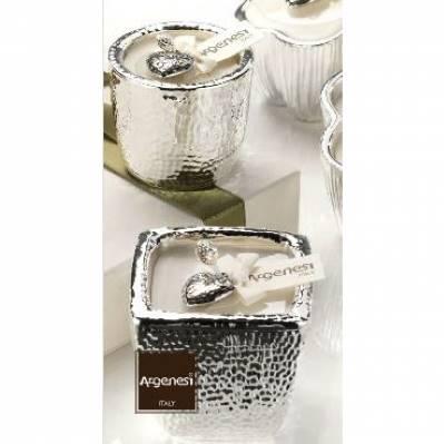Porta candela FRAGRANCE in resina e argento - Bomboniere Argenesi