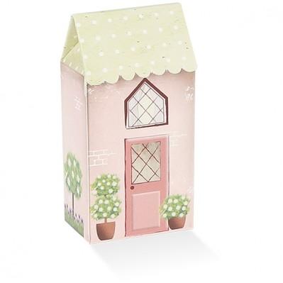 Casetta piccola con tetto verde a pois