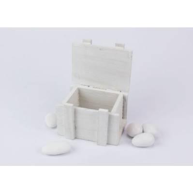 Bauletto legno colorato porta confetti per Prima Comunione / Matrimonio- Linea 2 Elle