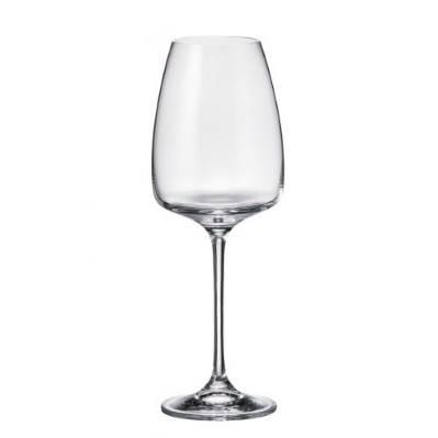 Set 6 bicchieri vino bianco Alizee in cristallo Bohemia