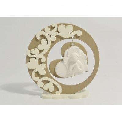 Icona Angelo in gesso con supporto in legno - Collezione 2020