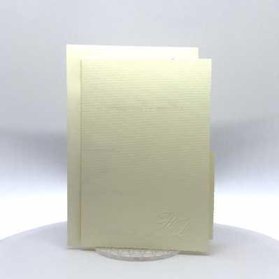 Partecipazione Matrimonio su carta rettangolare tipo millerighe