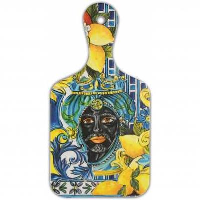 Tagliere piccolo da collezione sicilia blu Baroque&Rock - Baci Milano