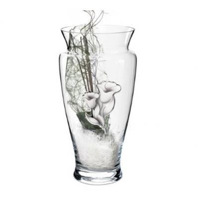 Vaso linea Blue in cristallo e placca argentata - Atelier