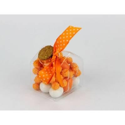 Casetta vuota vetro Portaconfetti Confezionata Arancio