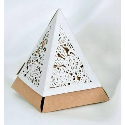 Scatola portaconfetti piramide bicolore