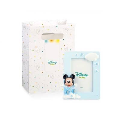Bomboniera Disney in resina topolino azzurro portafoto