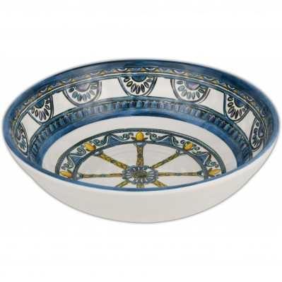 Piatto fondo da collezione sicilia blu Baroque&Rock - Baci Milano